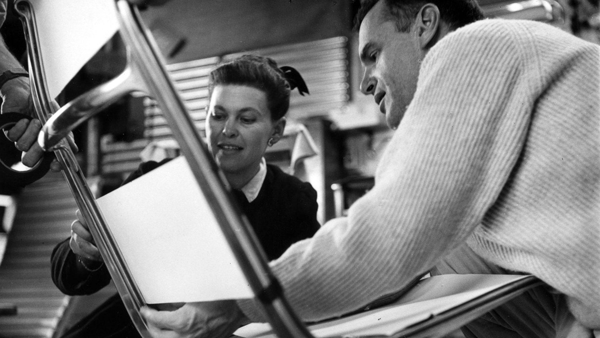Charles (right) and Ray Eames. Photo via  PBS .