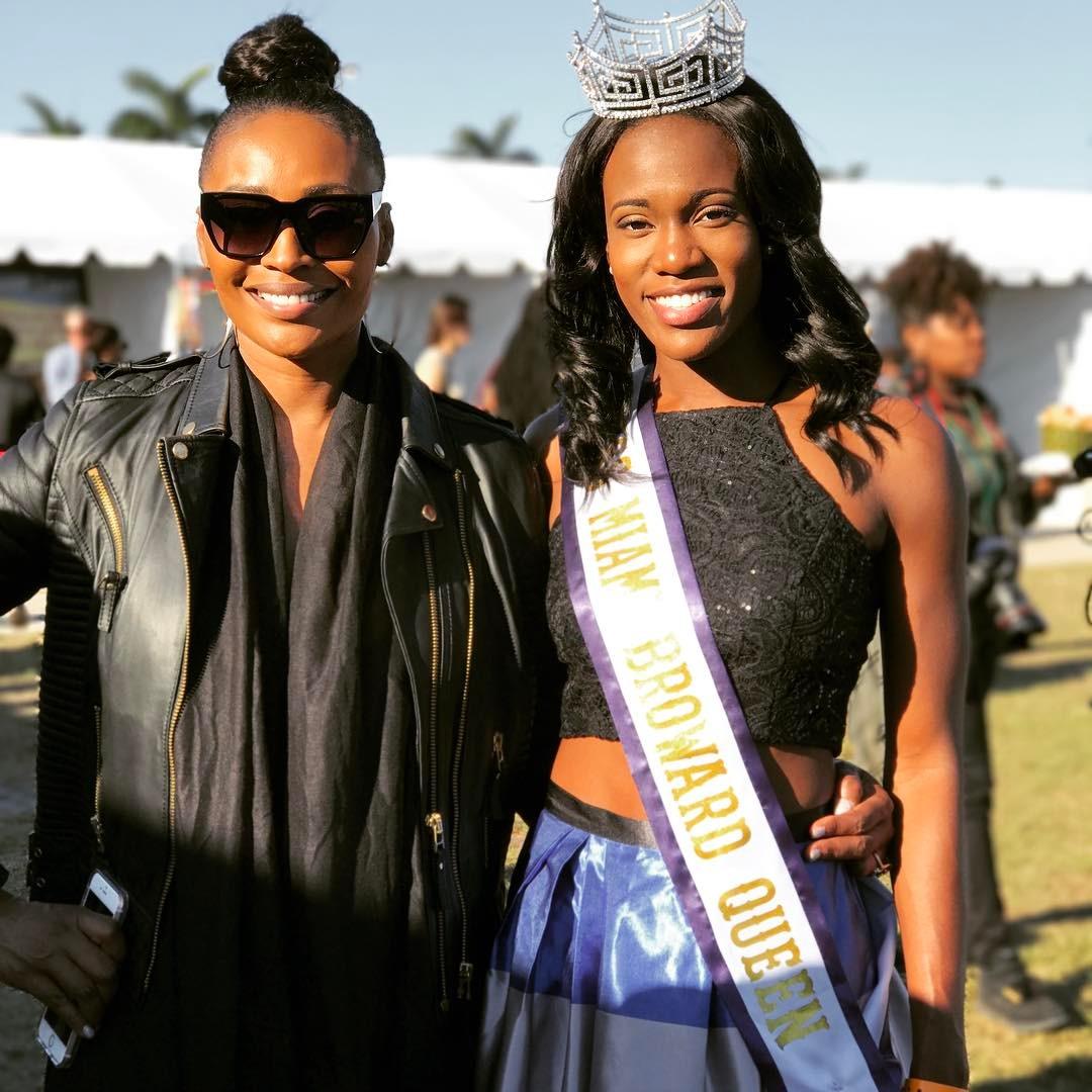 Miss Miami Broward Carnival Queen Maya Underwood with Real Housewives of Atlanta Star & Model Cynthia Bailey