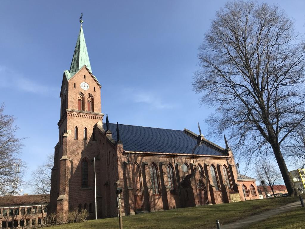 Sarpsborg kirke. Foto: Asbjørn Paulsen, Sarpsborg kirkelige fellesråd.