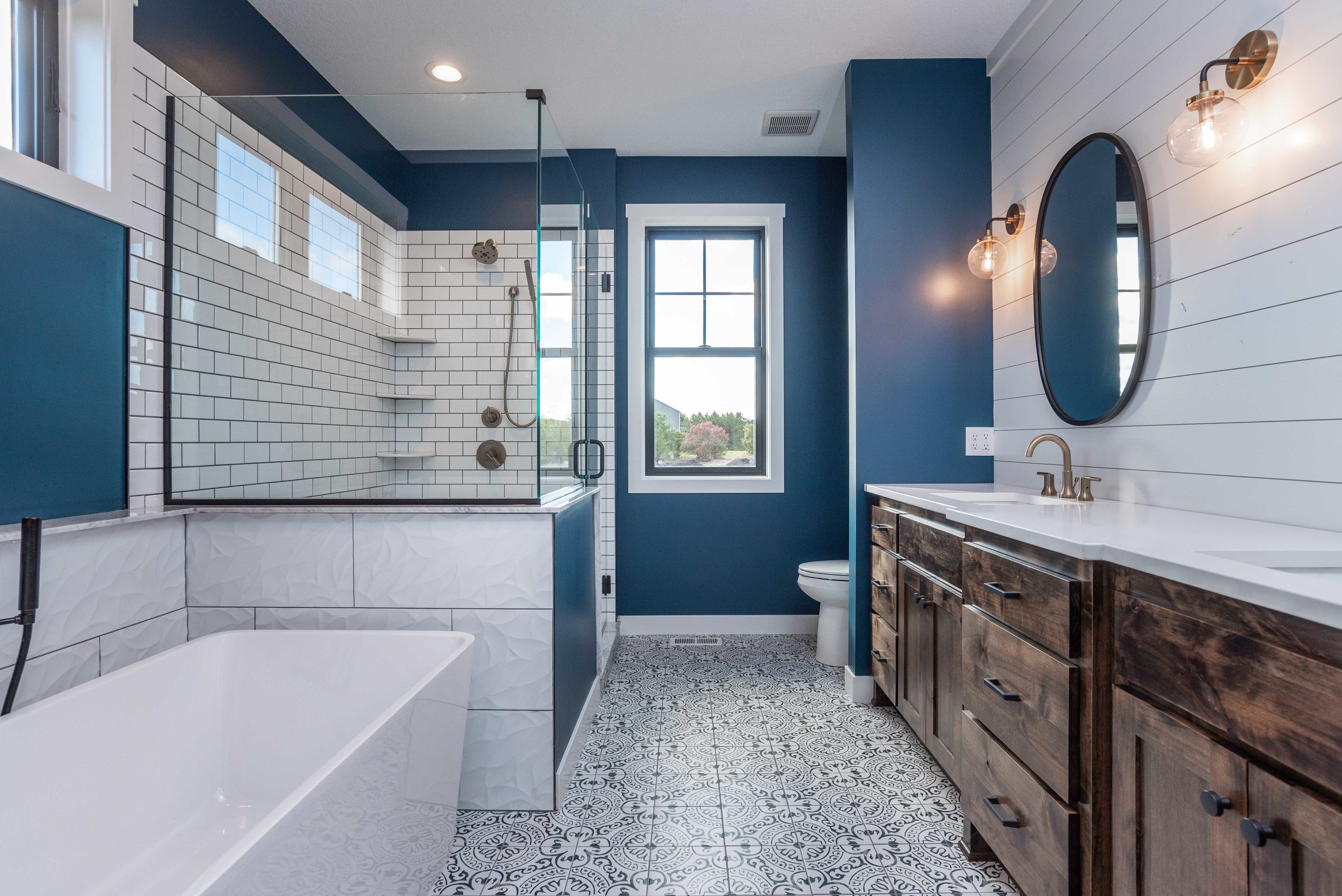 This master bath is gorgeous! We love the style our client choose.