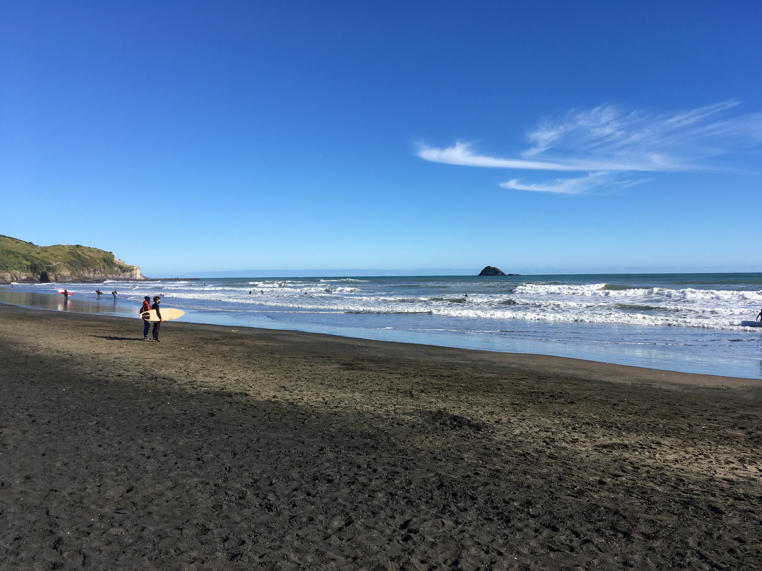 It was an absolutely stunning day out at Muriwai!
