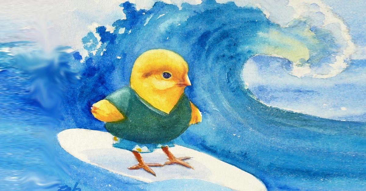 Surfing Chicken