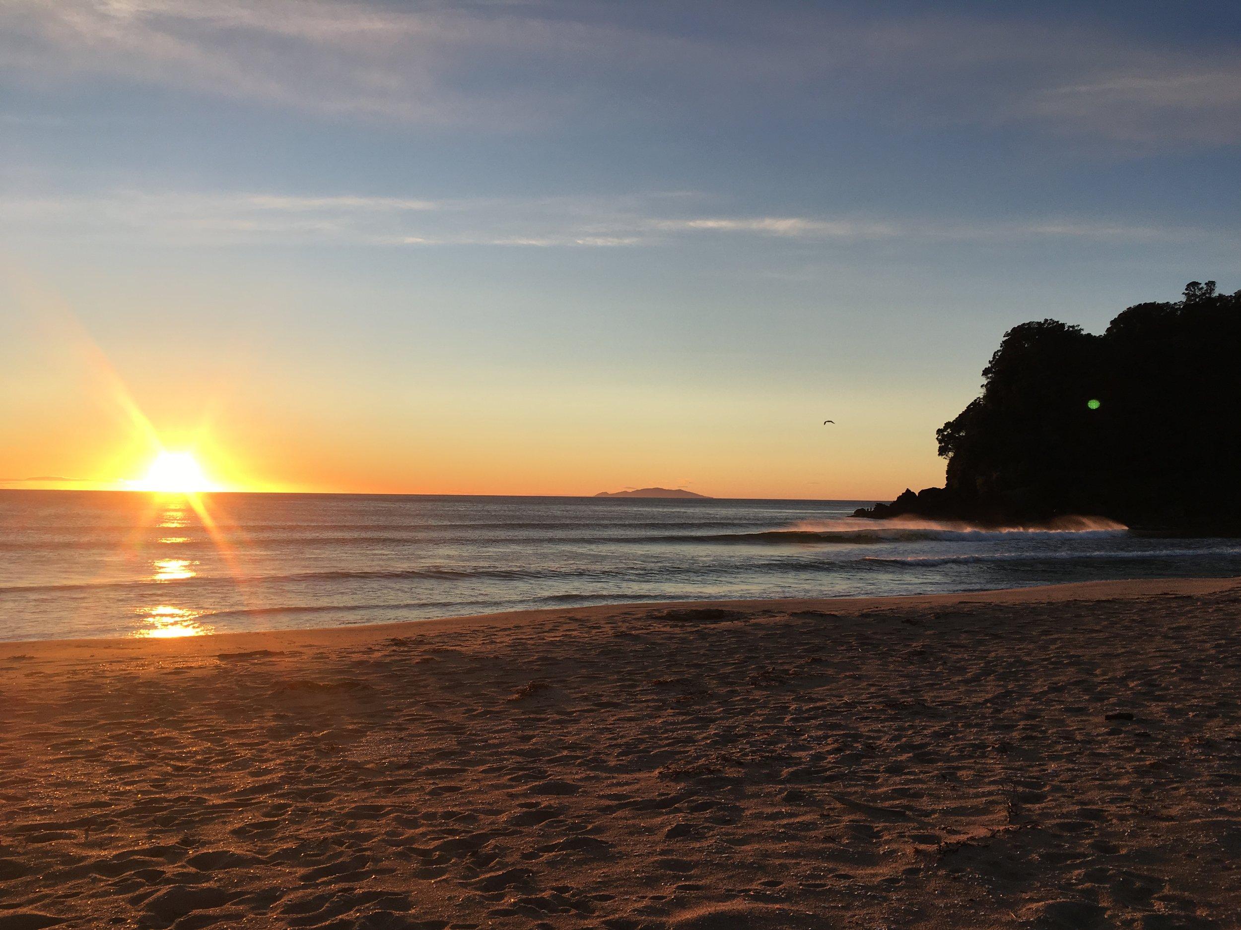 Onemana beach on Saturday morning