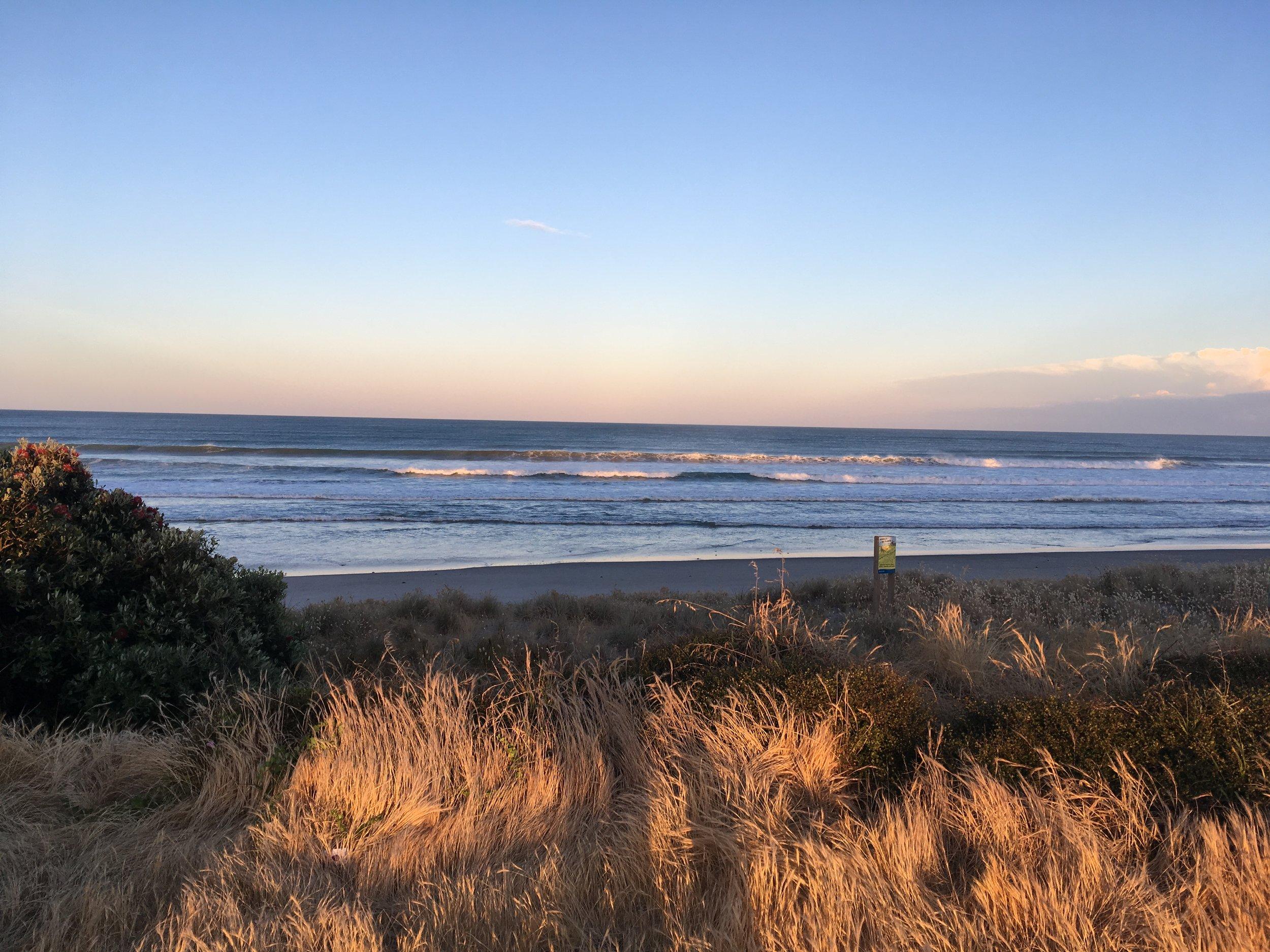 Beautiful evening light at Pukehina Beach