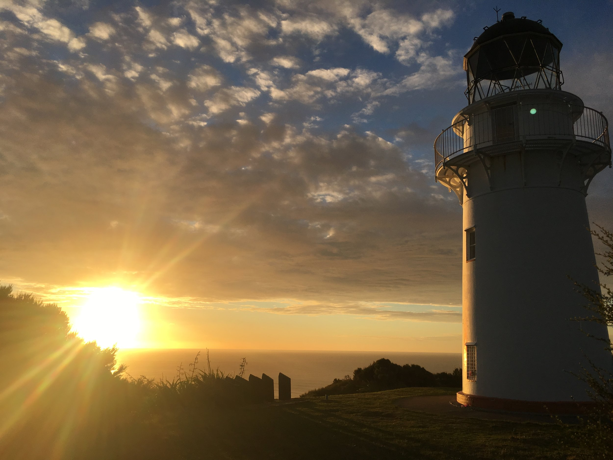Sunrise at the East cape Lighthouse