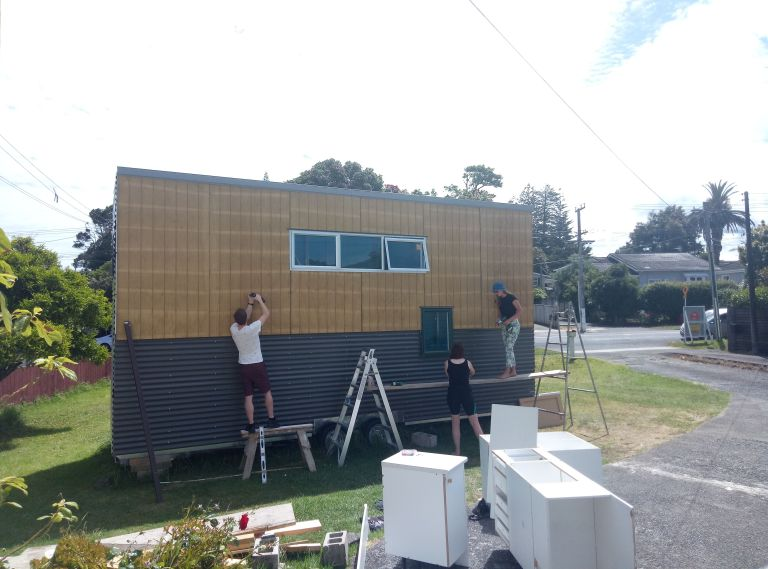 Amanda wouldn't have been able to build her Tiny House without the help of friends and family.