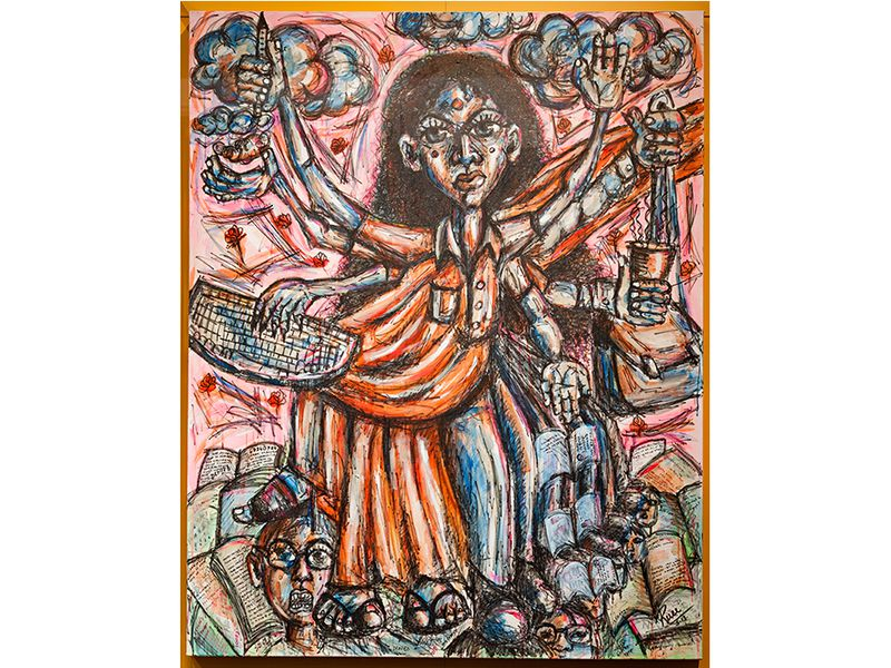 """Ruee Gawarikar's  Goddess of Visas, from """"What It's Like to Live Life Working in the US on a Visa."""" Smithsonian.com"""