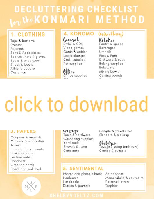 My KonMari Decluttering Checklist