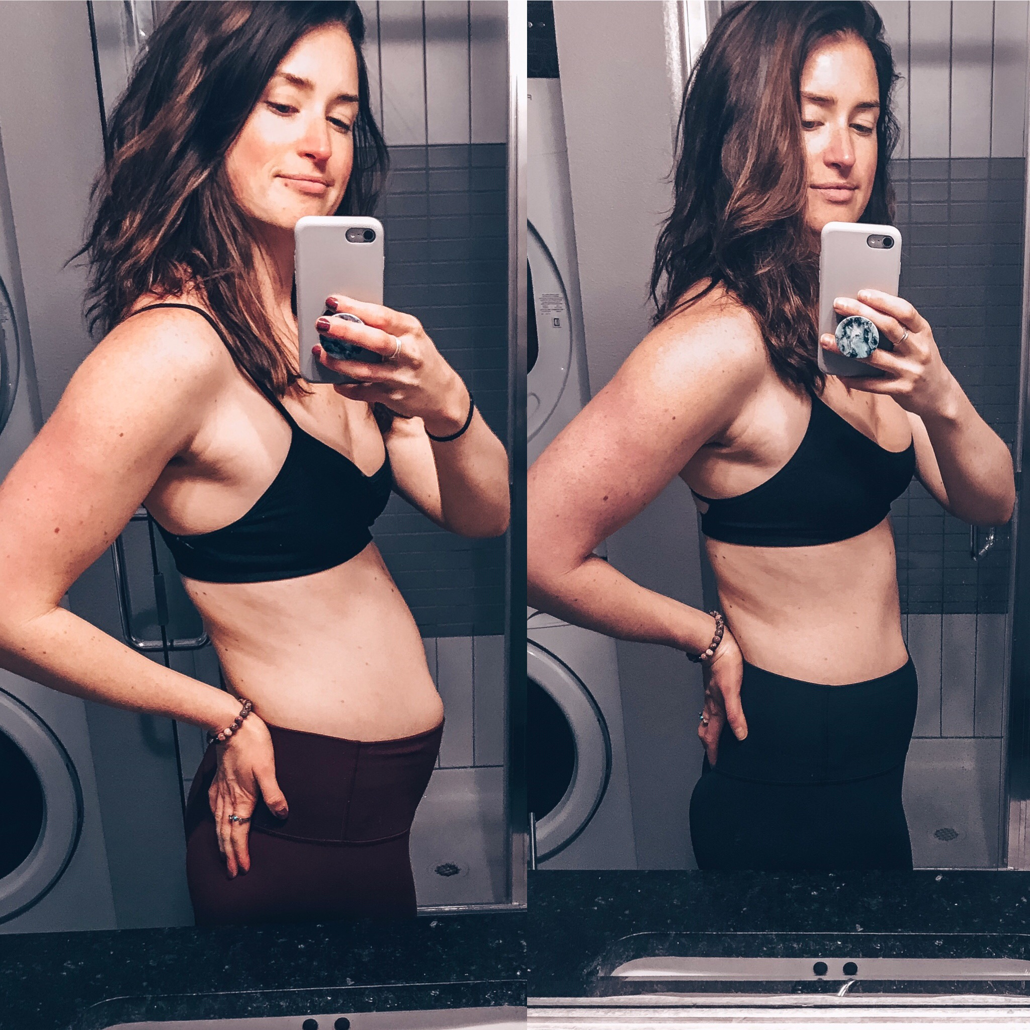 Stressed and bloated AF four weeks ago—> me today!