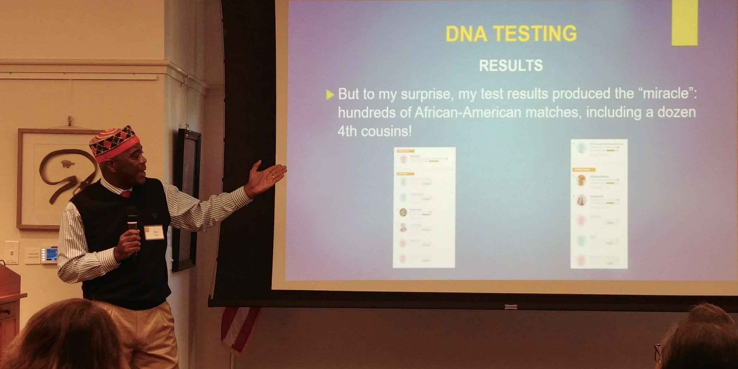 Finding Family - Finding Family: A Story of Slavery, Separation and Reunification recounts the story of a recent African immigrant to the United States who makes the unexpected discovery through DNA that he has hundreds of African American relatives, and embarks with several of them on a journey of hope and reunification to identify their common ancestor.