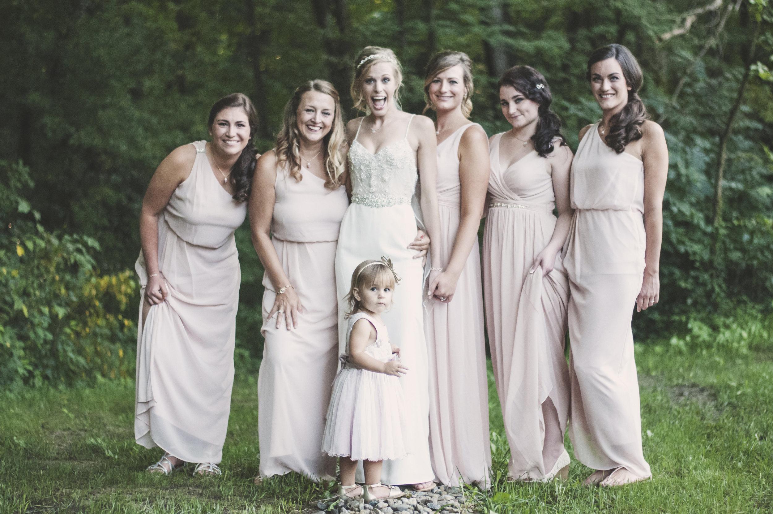bridal party photo indy bride