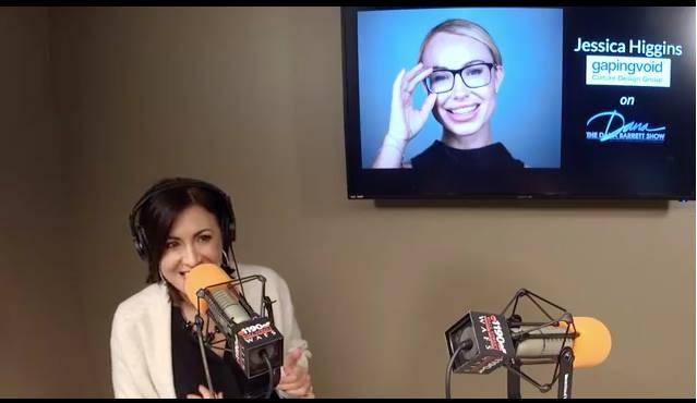 Jessica Higgins Live on Wall Street Business Network in February 2018 on the Dana Barrett Morning Show.