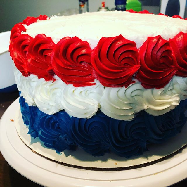 Happy July 4th everyone! #july4th #cake