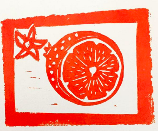 Summer fruit - 2017, Linocut