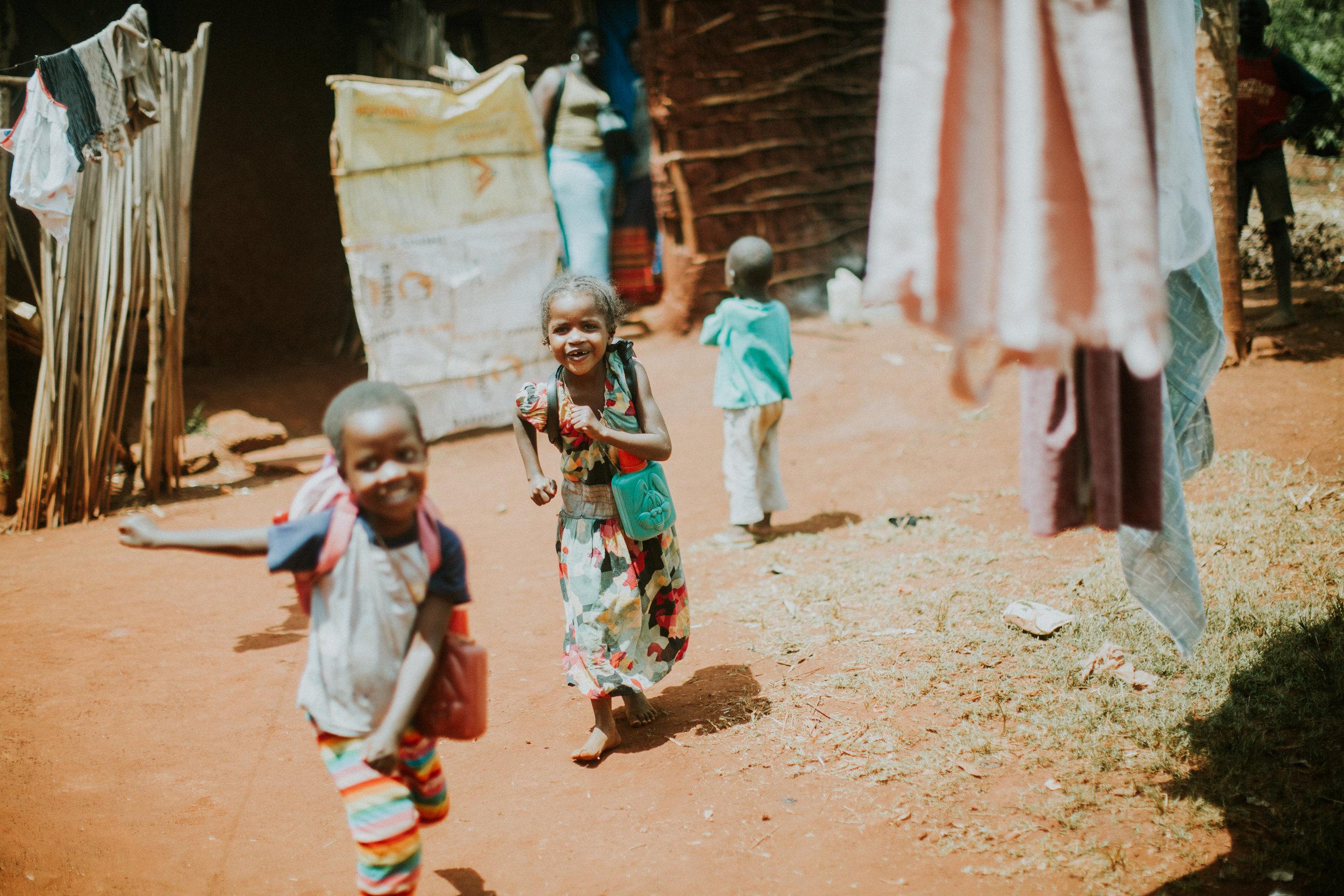 80% children enrolled in school -