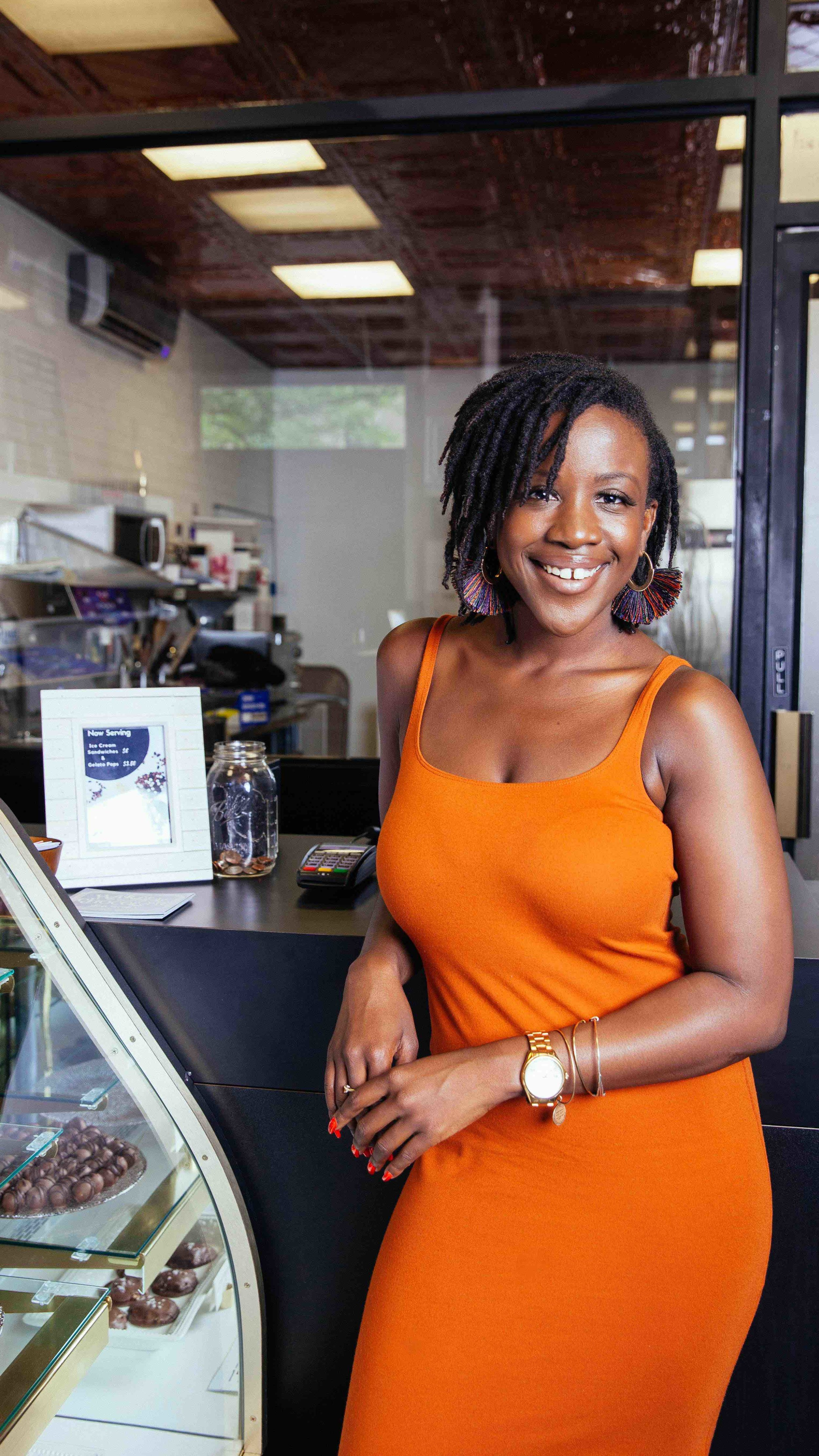 Founder of Strivers' Row, Destinee Swindell  at  Harlem Chocolate Factory