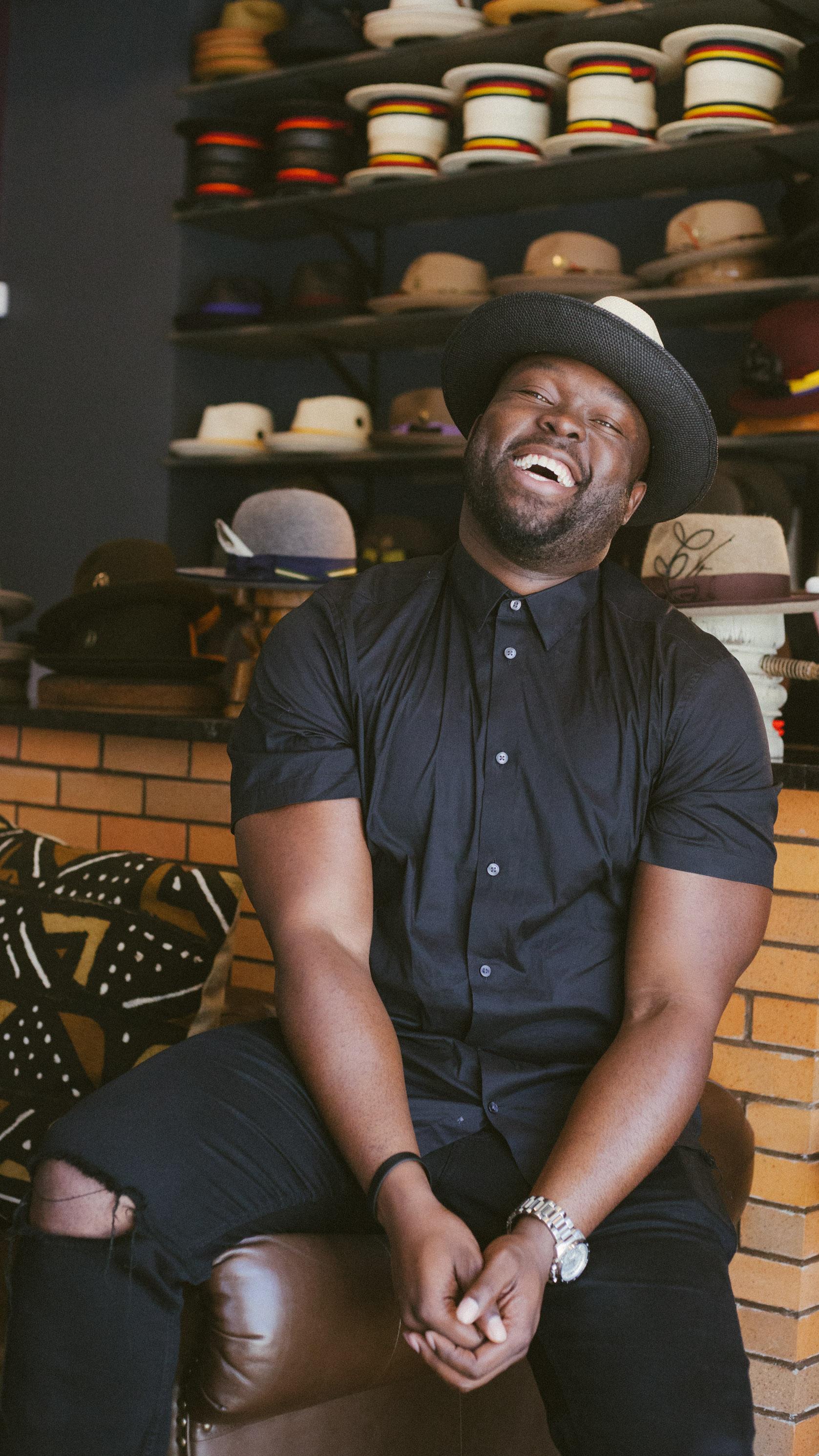 Striver & Head of US Sports at Twitter, TJ Adeshola  at  FlameKeepers Hat Club  in Harlem