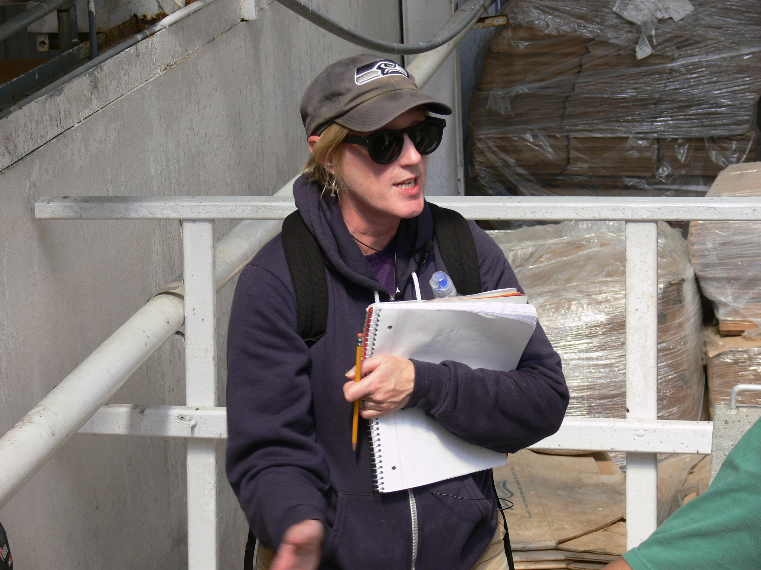 Project Director Katie Ringsmuth in the Fish House at the <NN> Cannery