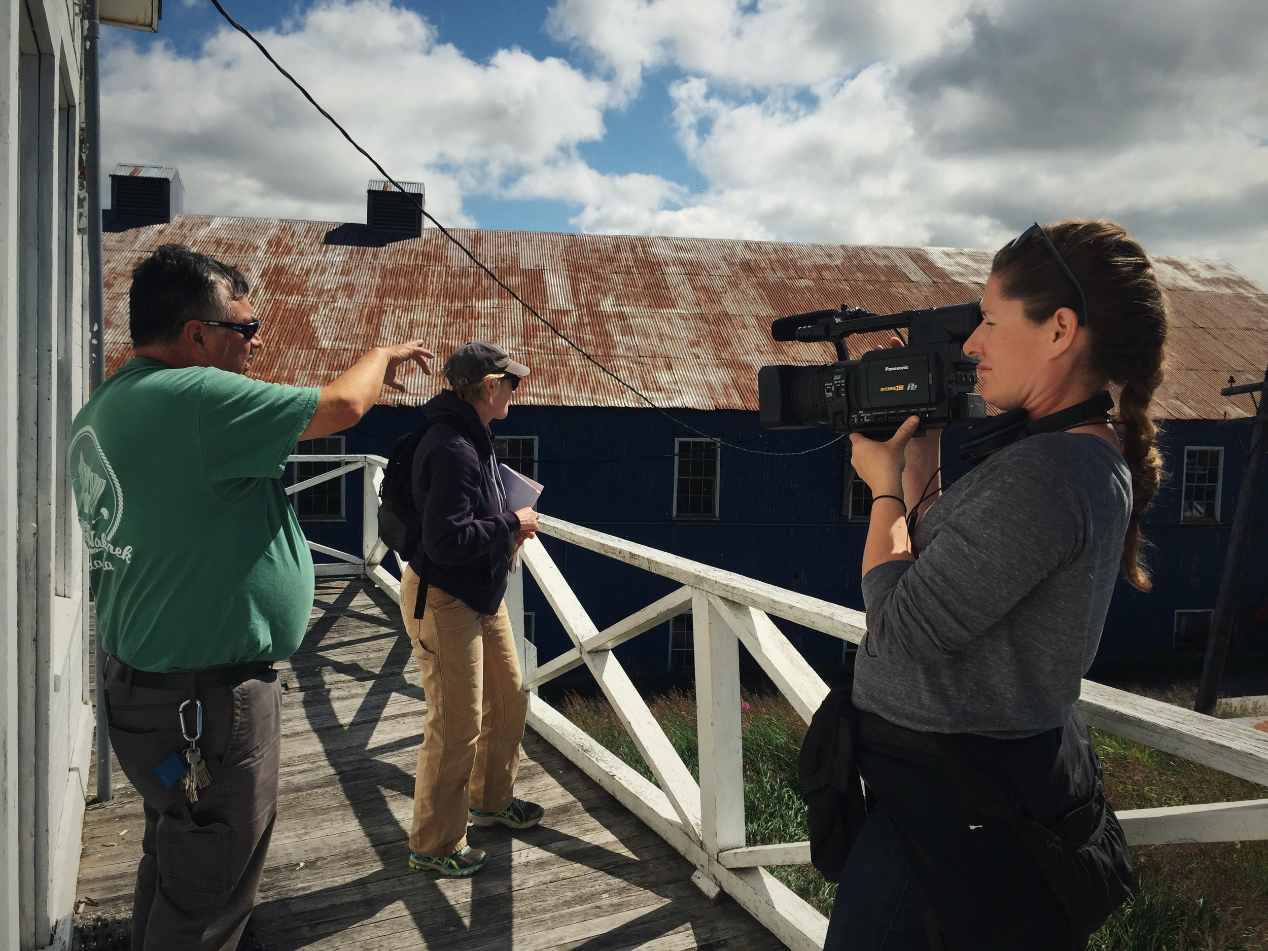 Filming onsite at the NN Cannery in South Naknek, Alaska.
