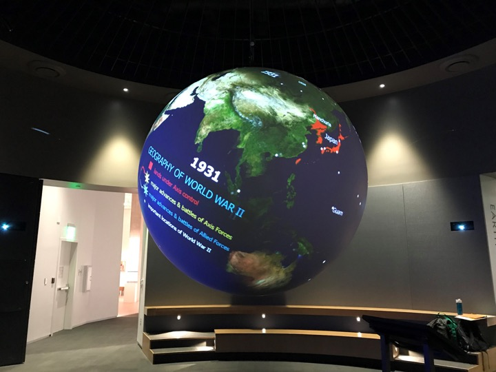 Science on a Sphere Exhibit | Alaska State Museum