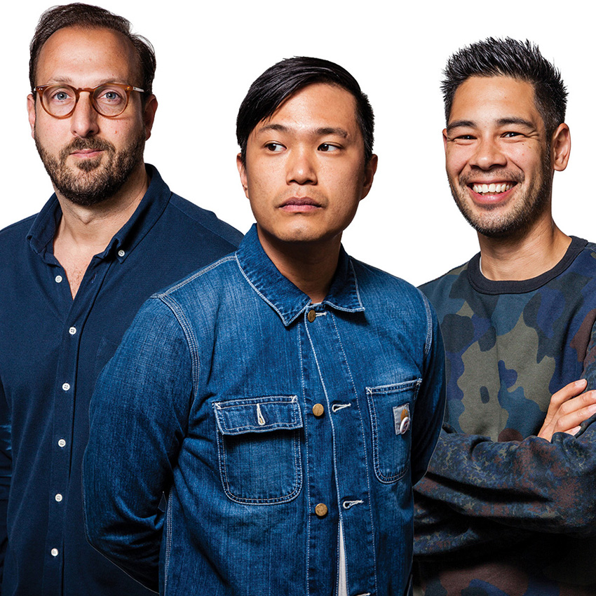 Bodega Co-Founders Oliver Mak (Center), Jay Gordon (Left), and Dan Natola (Right)