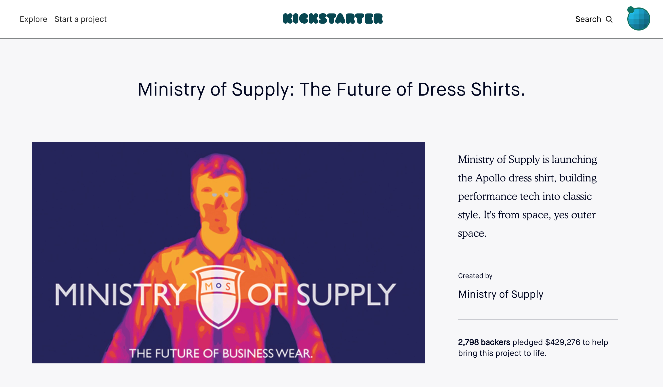 Ministry of Supply Kickstarter Campaign