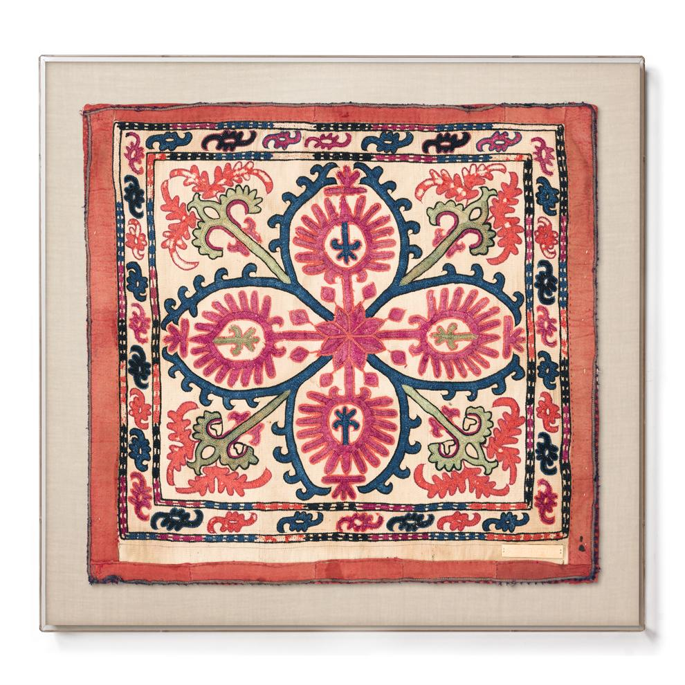 Lakai XII Accent Framed Textile Made in Uzbekistan