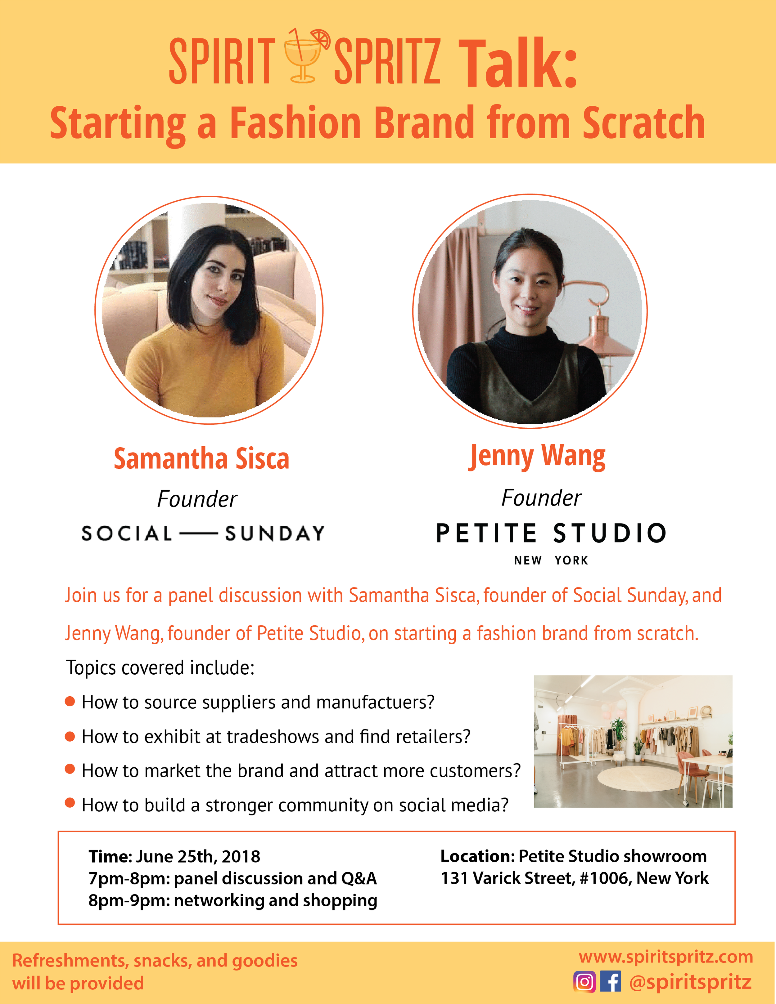 Starting A Fashion Brand Social Sunday Petite Studio Panel Networking.png