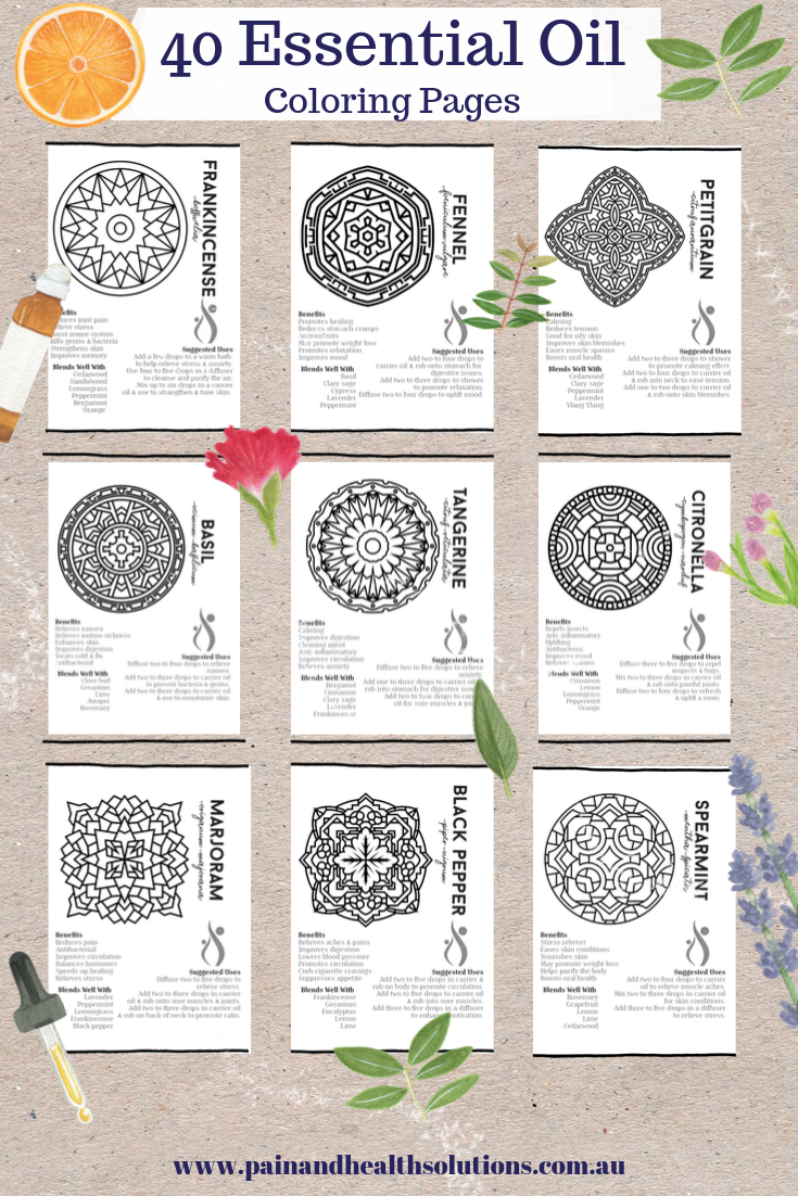 40 Essential Oil Coloring Pages Pinterest Pin.png