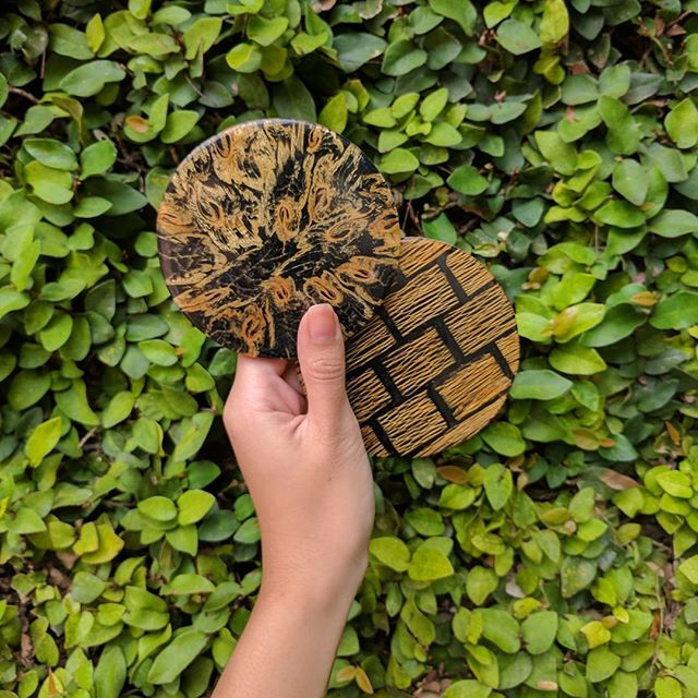 Who knew fruits could look as good as they taste? Organic coasters in lovely patterns made from banana stem and papaya trunk. What do you think? #BellezzaCasa