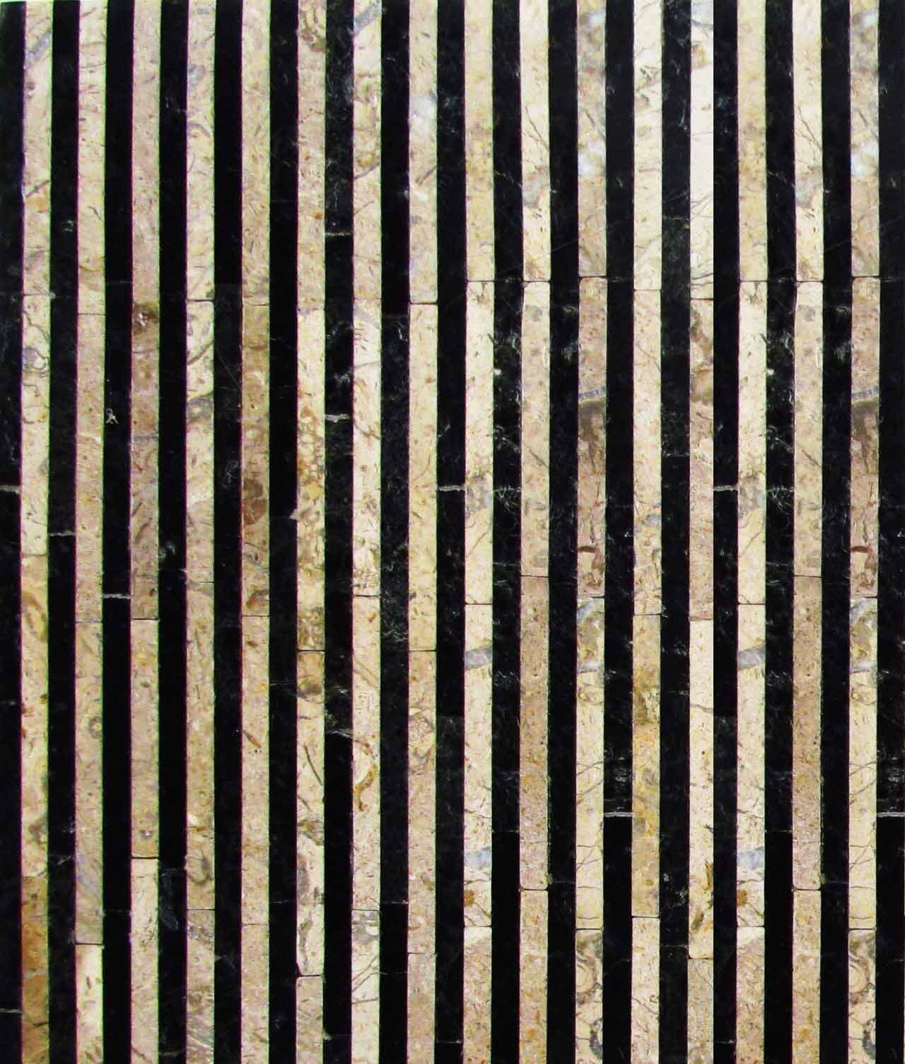 Black and White Stone Stripe Pattern