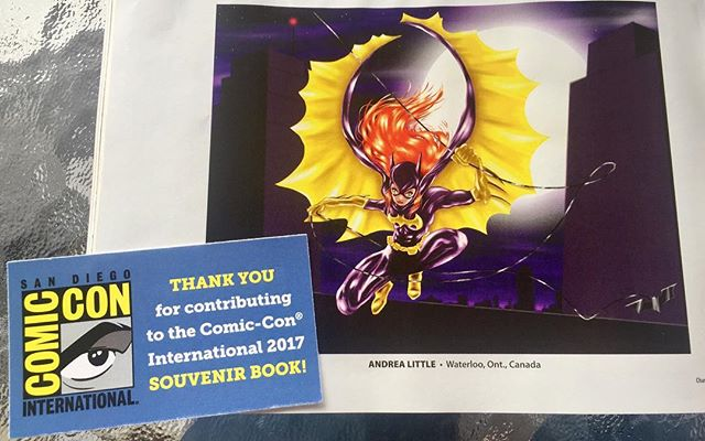 Hooray!! My Batgirl piece made it into the San Diego Comic-Con 2017 Souvenir Book!!! 😀  #SDCC #SanDiegoComicCon #ComicCon #Batgirl #BarbaraGordon #dccomics #batman  #illustration #drawing #sketch #design #art #artist #artwork #illustrator #draw #drawing #sketching #instaart #myart #artoftheday #dailyart #artistsoninstagram #digitalart #digitalpainting #ClipMangaStudio