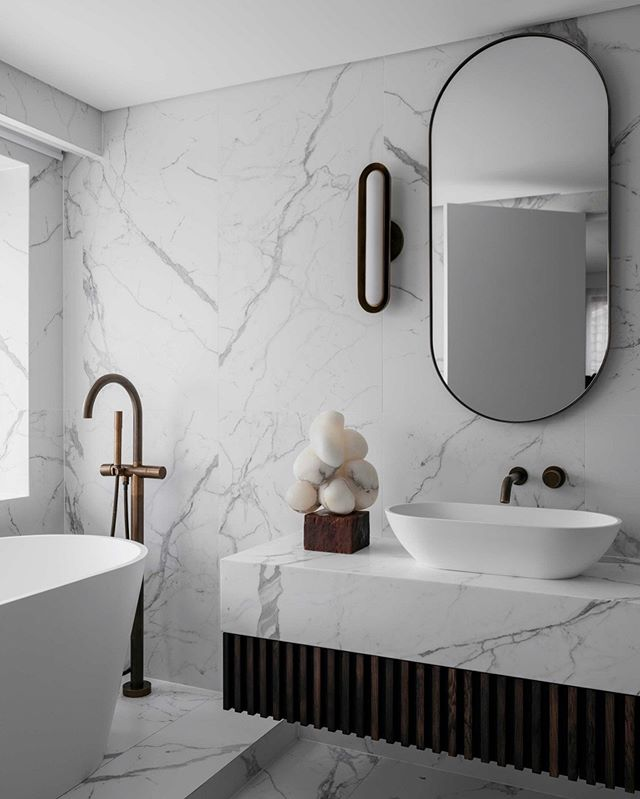 bathroom  blissPORTLAND ST RESIDENCE #ninamayainteriors . . . . 📸 by @felix_forest  Styling by @joseph_gardner  Featuring some special pieces from our fave @apparatusstudio & @_carolcrawford_  #luxuryinteriors #interiordesigner #architects #vogueliving #interiordecor #designlovers #interiordecoration #instadesign #interiorarchitecture #designdetails #archilover #interiorstyle #architecturephotography #archidaily #bathroomdesign #bathroomdecor #luxuryhomes #marble #sculpture #ninamayainteriors