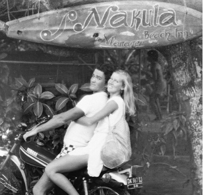 Early days at the Nakula Inn, Bali. CEO Tony and wife Vicki