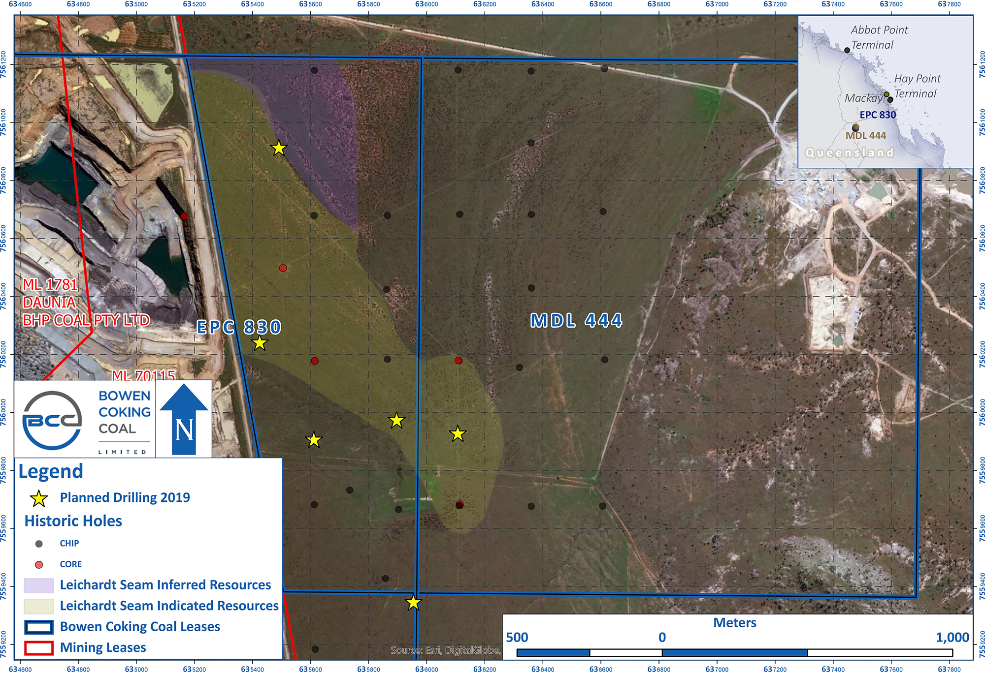Isaac River Drilling Announcement - April 2019 Map - with resource polys_e.jpg