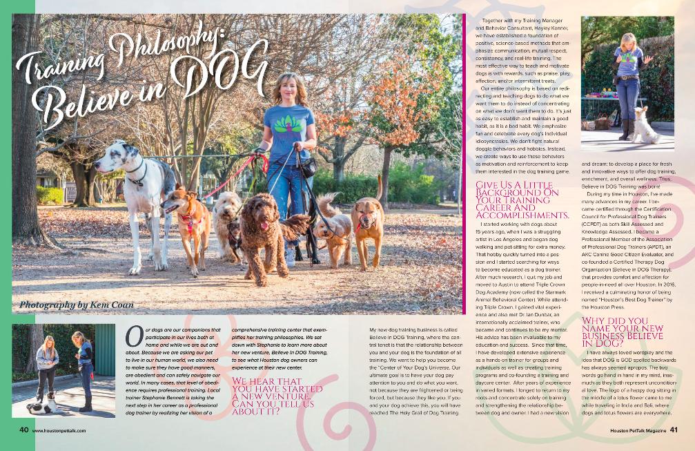 Press — Stephanie Bennett Houston | Believe in Dog Training