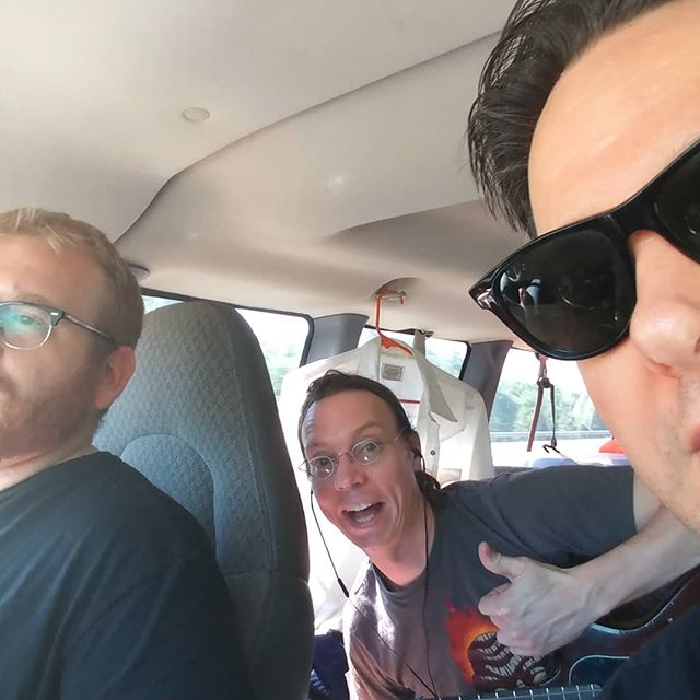 On our way to play The Zoo Bar in Lincoln Nebraska Tom's road rage is real.