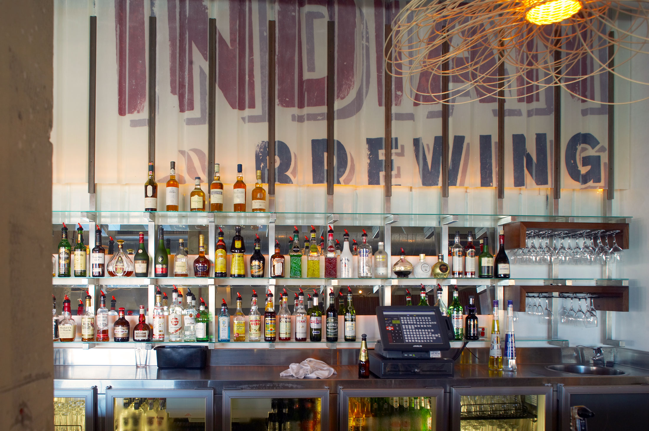 Indian Ocean Brewing Company –Bar Wall Graphic