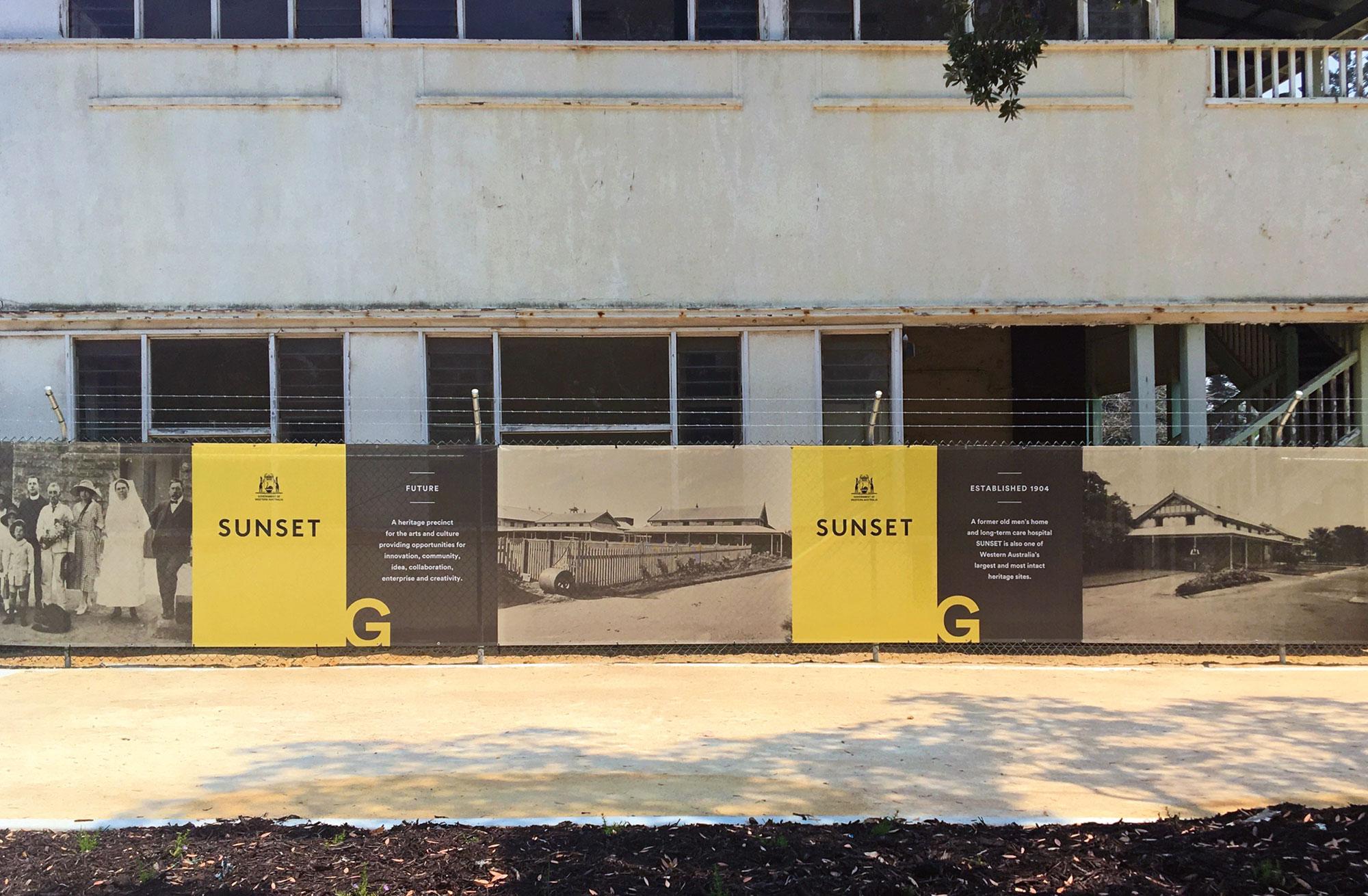 Sunset Heritage Precinct – Hoarding
