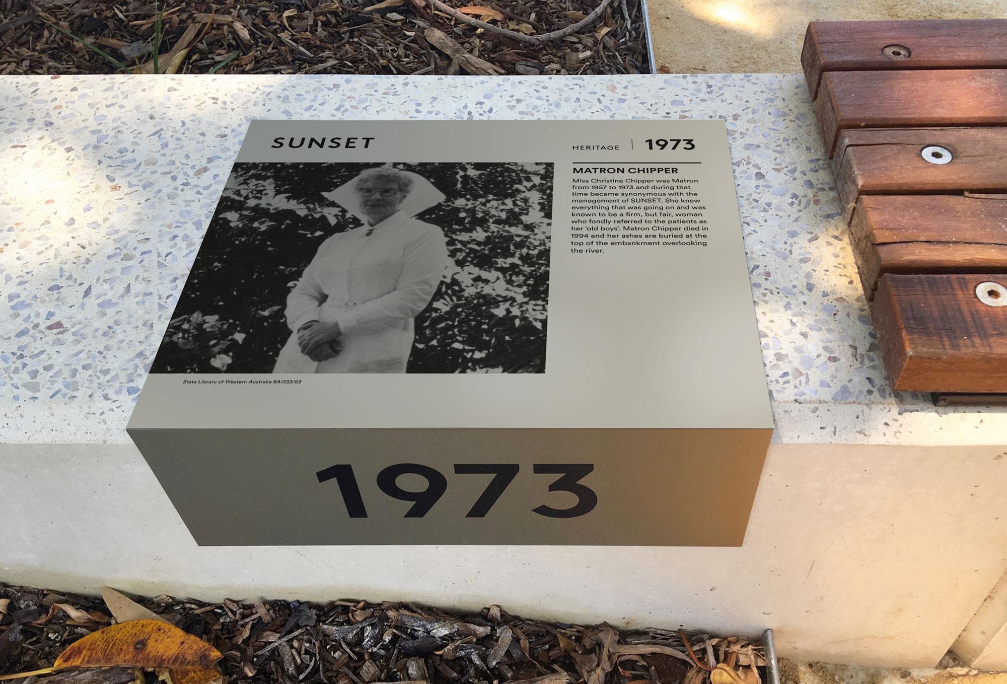 Sunset Heritage Precinct – Interpretive Signage