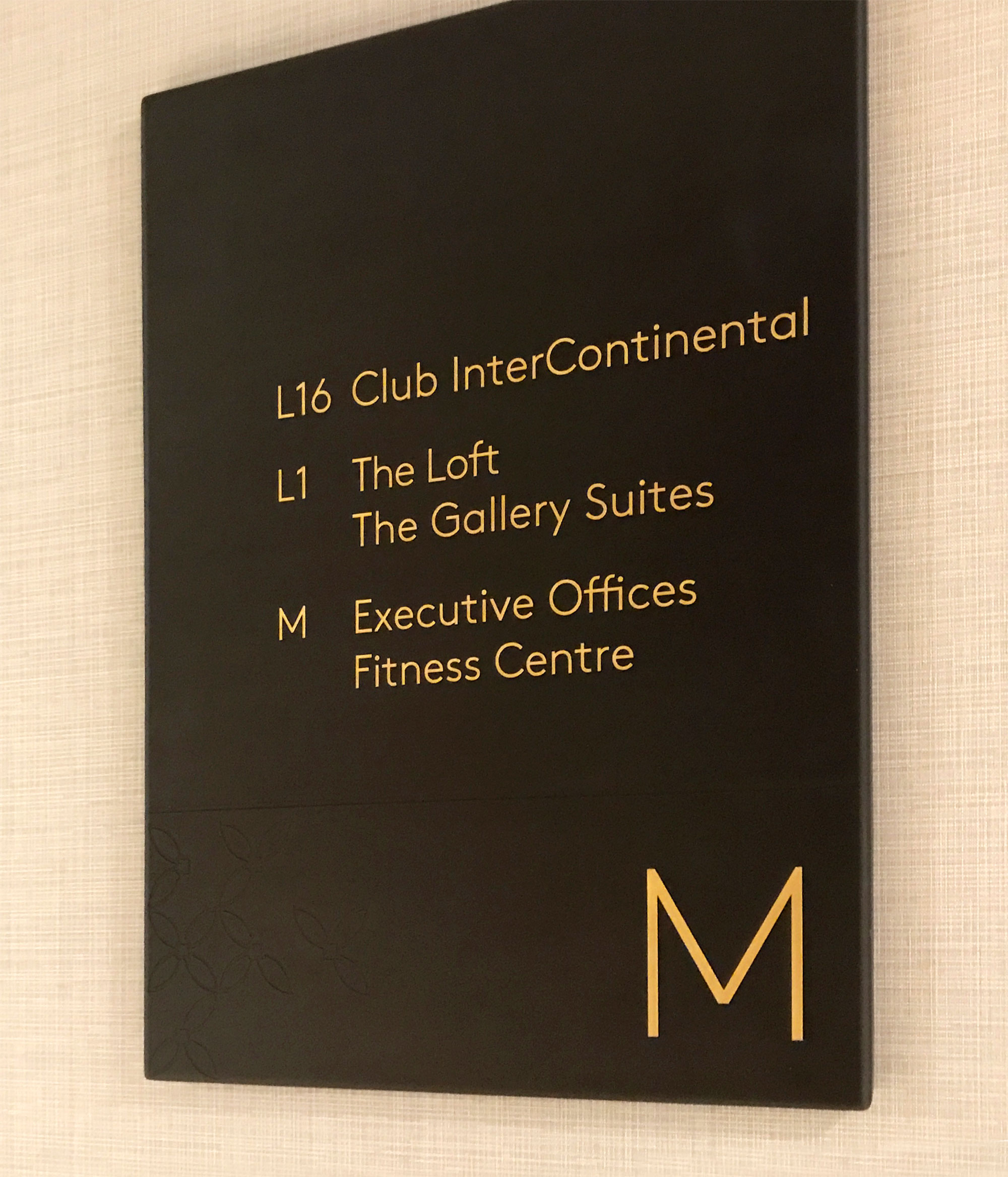 Intercontinental – Wayfinding Signage