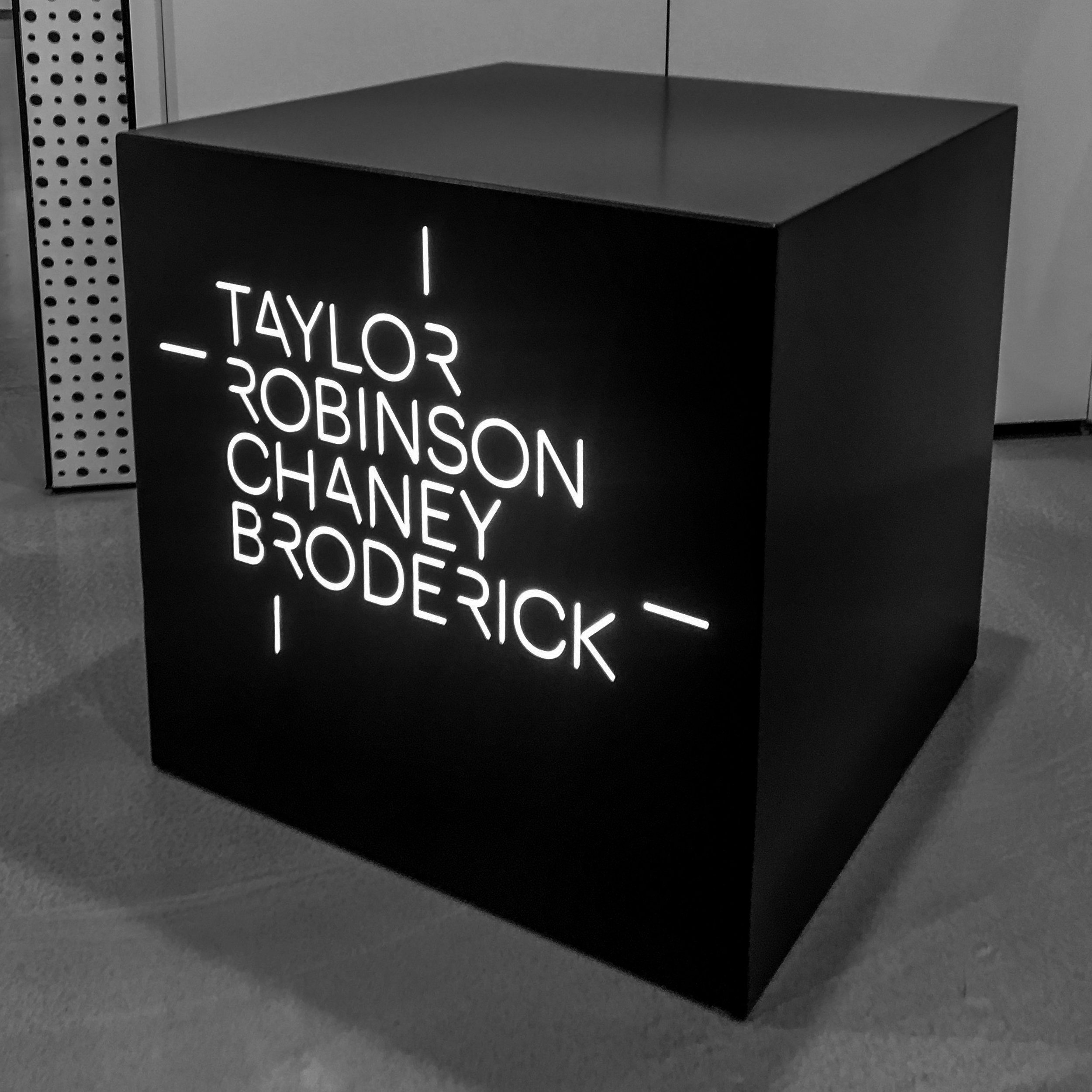Taylor Robinson Chaney Broderick– Lightbox cube
