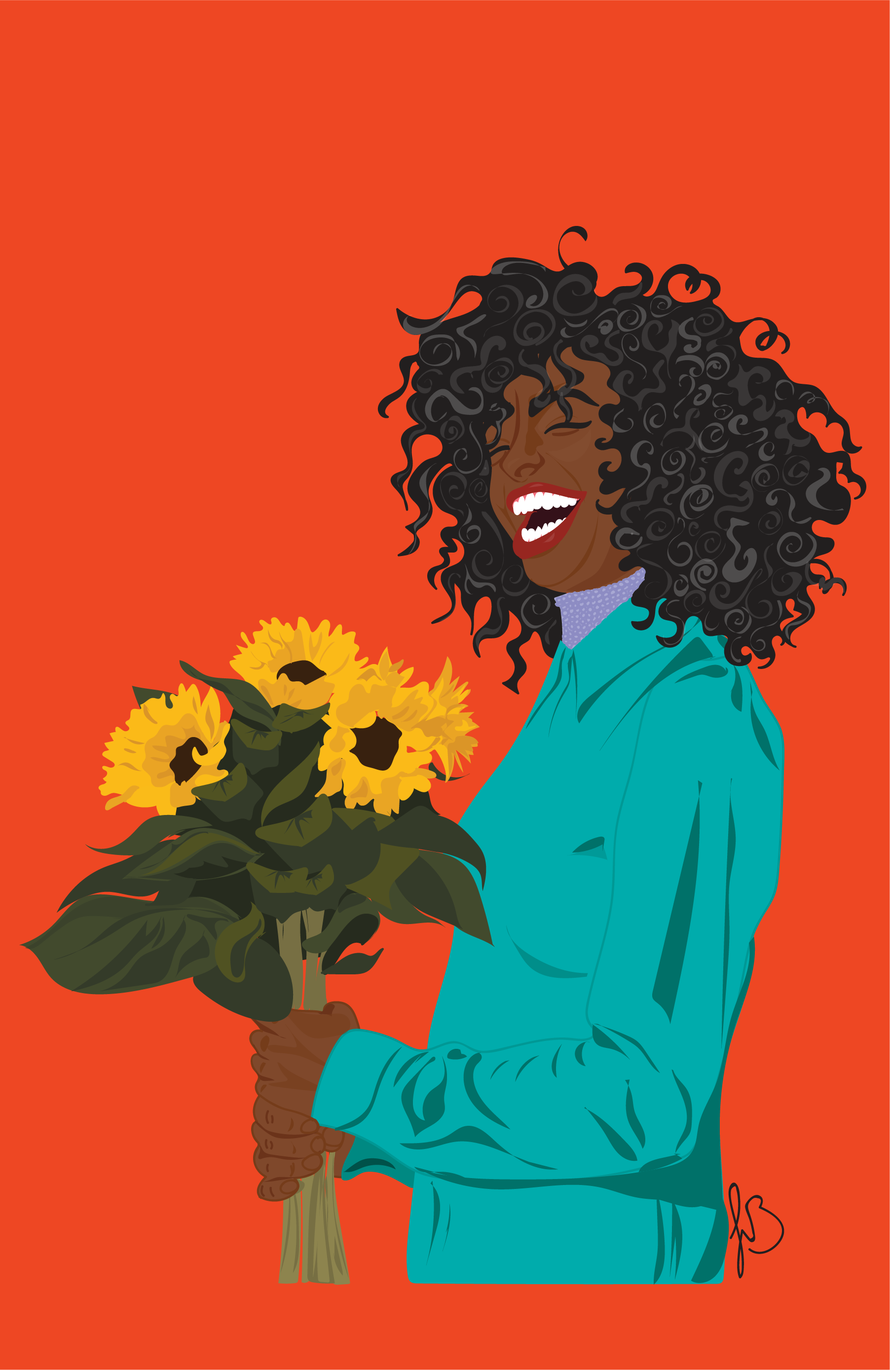 Sunflowers & A Smile By Jolie Brownell.png