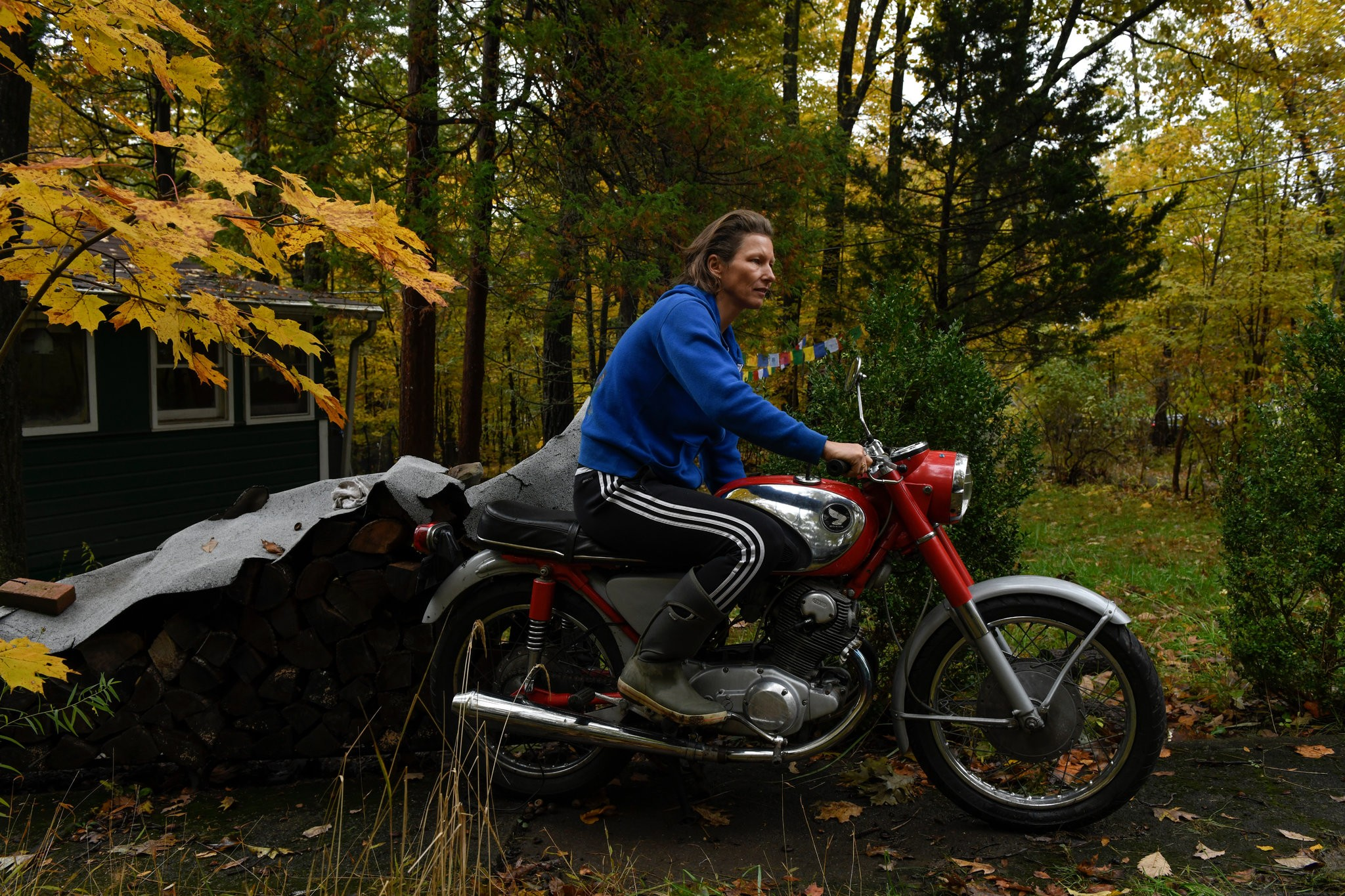"""""""It's an old-timer, a Honda CB77 Super Hawk from 1964. One interesting thing about that bike is it's the same as the one from 'Zen and the Art of Motorcycle Maintenance.'"""""""