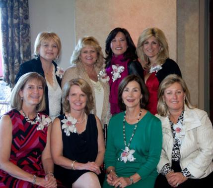 Top Row (L-R): Traci Austin (97-98),Wanda Dalcin (92-93), Nani Sumi (08-09), Susan Rule Sandler (09-10 & 2017-18). Bottom Row (L-R): Ruth Haring (04-05), Julie Douglass (11-12),Joellen Alflen (93-94), Pam Geraghty (94-95)