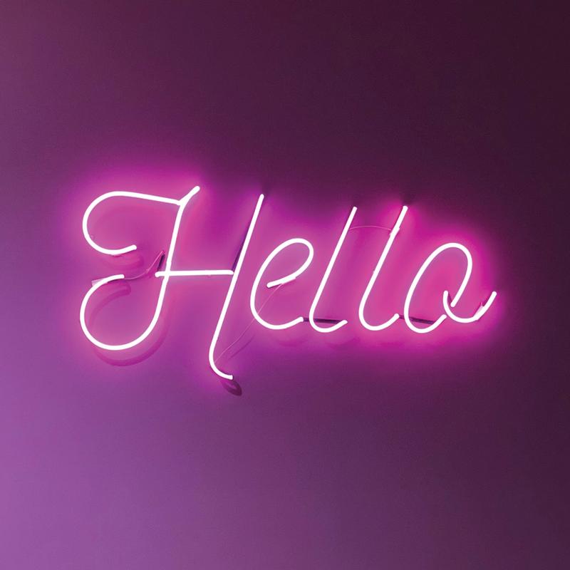 ditox square hello neon sign