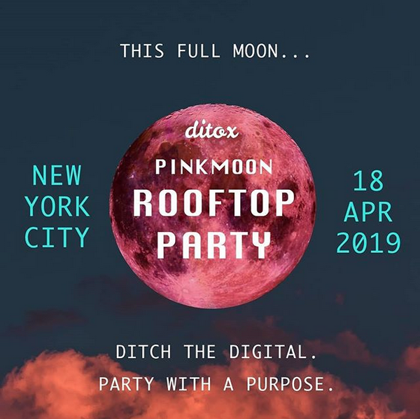 Digital Detox Pink Moon Rooftop Party