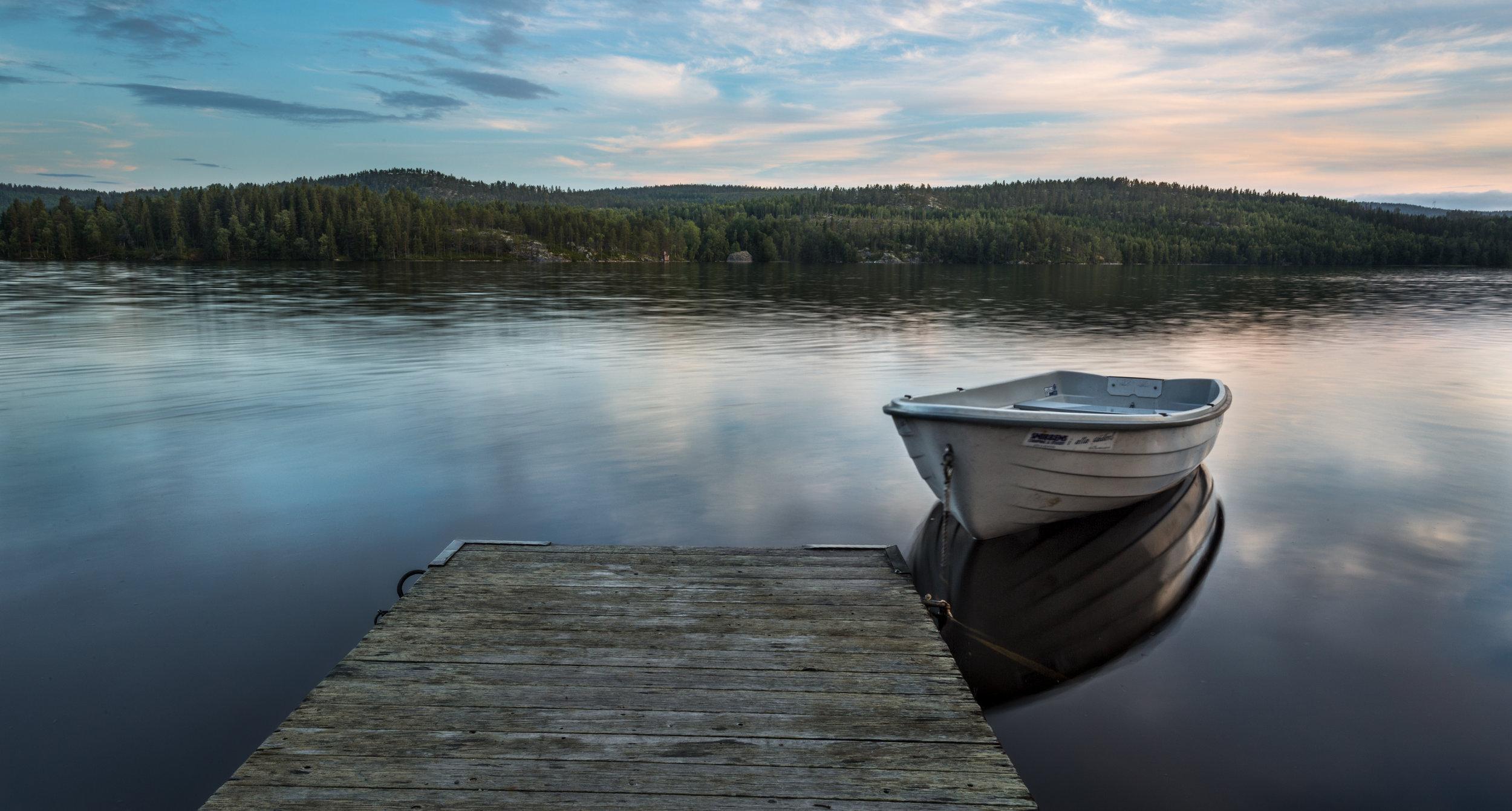 Alone on the Calm Lake