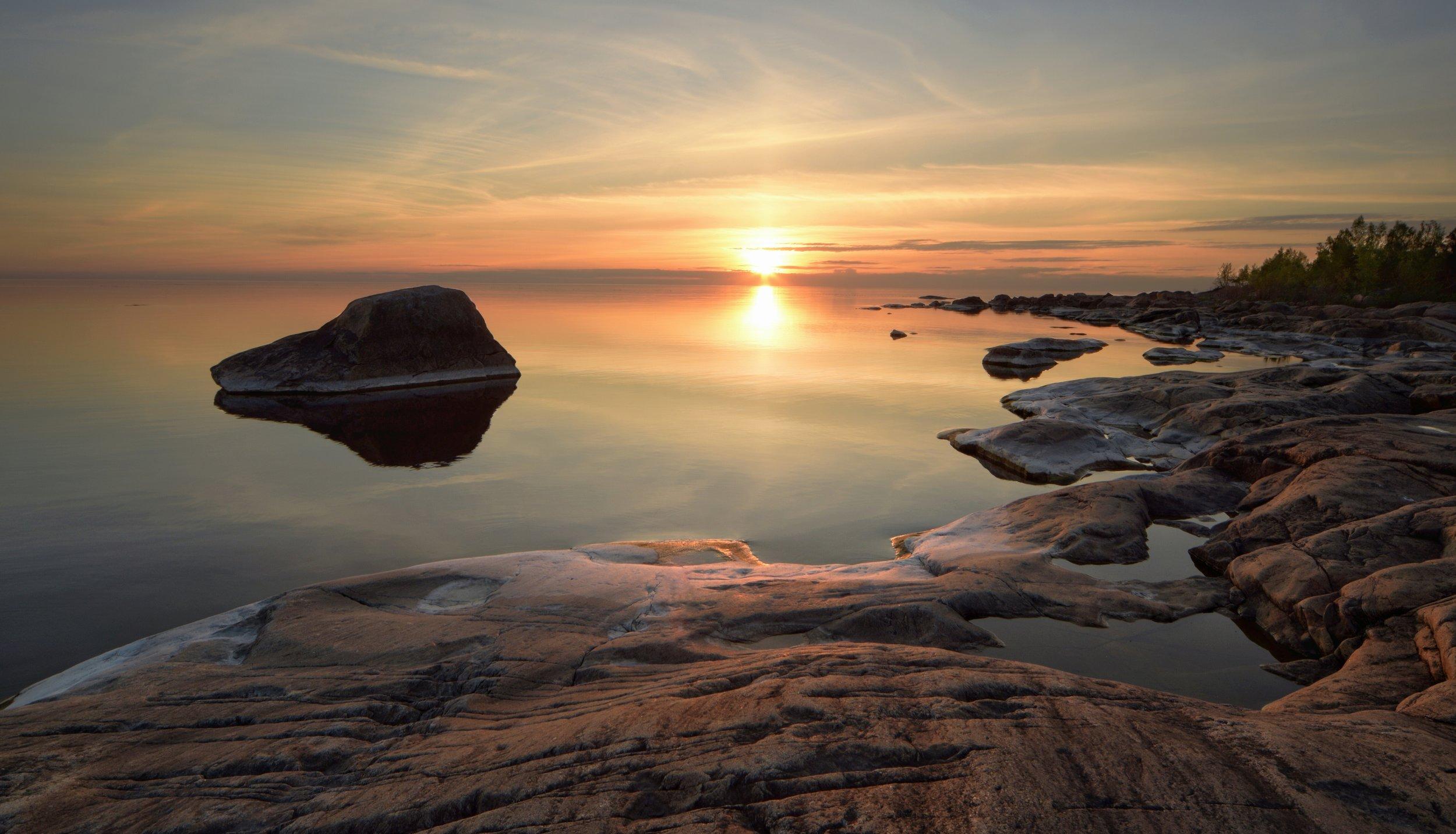 Tisskässand's Rocks at Sunset II