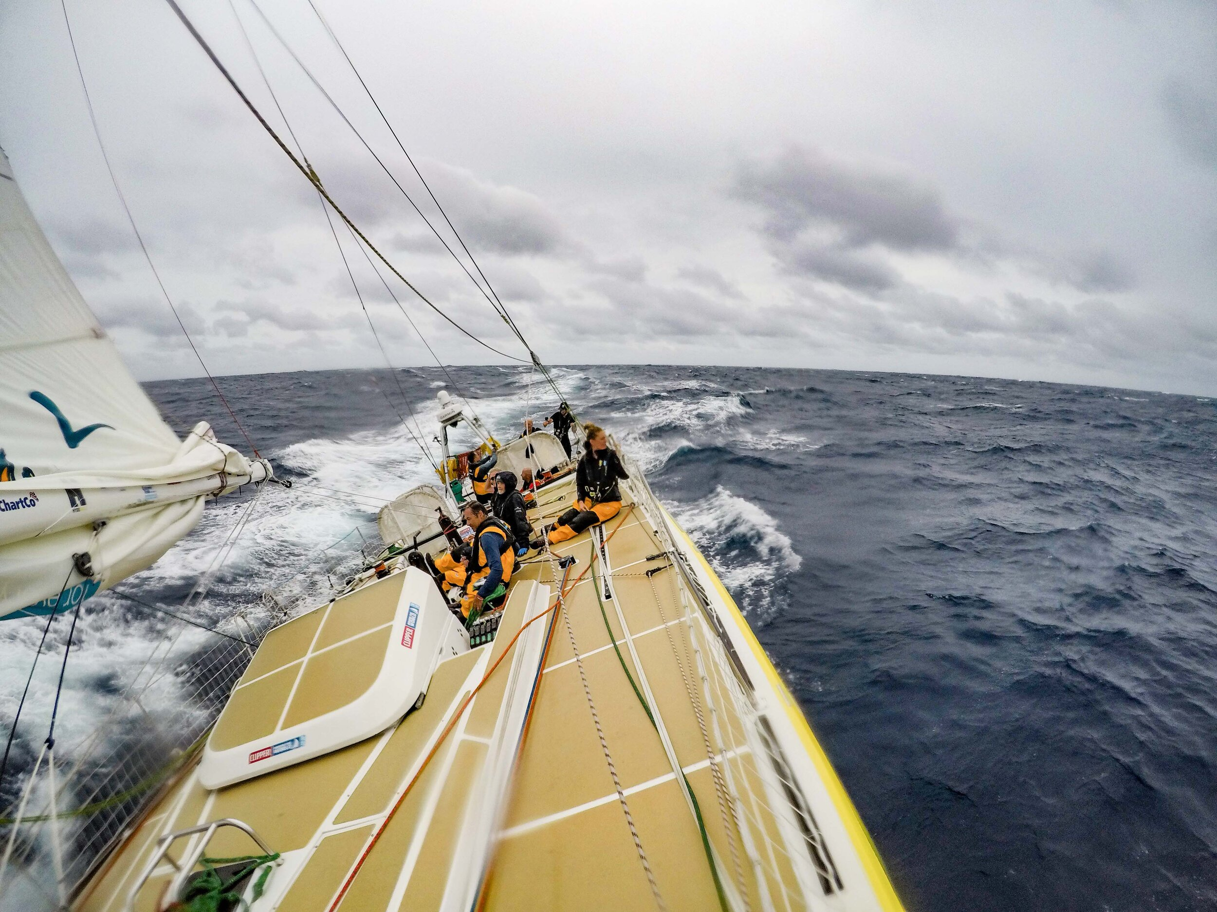 IMAGE: Cherie captured the approaching Tropical Storm Lorenzo on board Punta del Este.